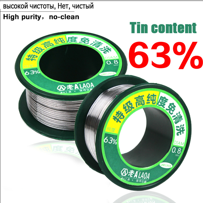 0.8MM high purity Soldering Wire 63% tin content 55g - W&J TECHNOLOGY CO., LTD store