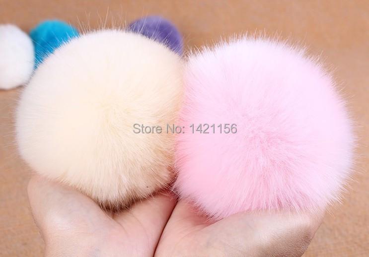 5pcs/lot large faux fur ball 10-12CM for Beanies hats/knitted caps/key chain/bag pendants fake rabbit fur balls free shipping(China (Mainland))