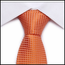 L10024-8 2015 fashion men necktie neck tie man champagne Patriotic Tartan Plaid Skinny Tie ties for men jewelry acessorios