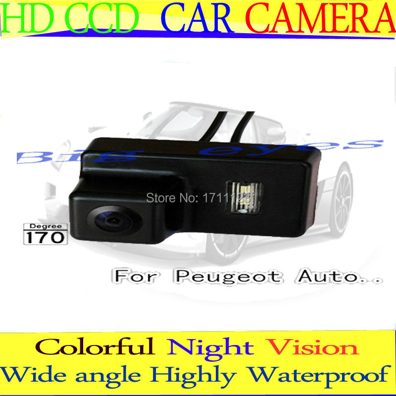 CAR REAR VIEW REVERSE BACKUP COLOR CCD WATERPROOF NIGHT VISION 170 DEGREE CAMERA FOR PEUGEOT 307SM 206 207 307(3C) 407(China (Mainland))