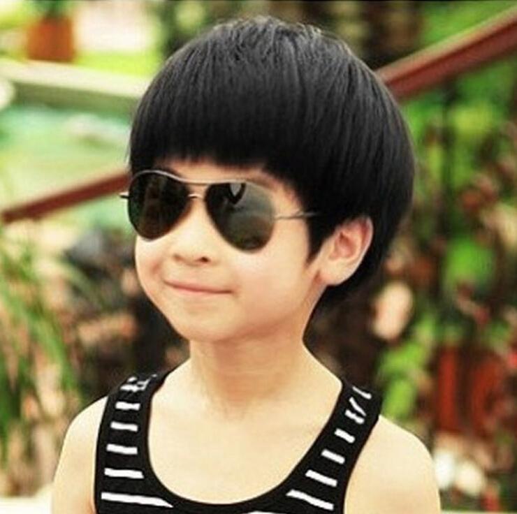 DYZ+++802 New children's short black wigs baby boy boys infant prince pupils wig(China (Mainland))