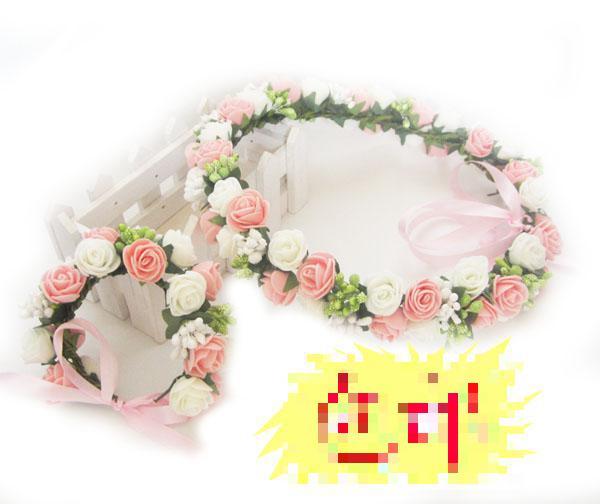 2015 New Arrival Women Adult Headwear Girls Hair Accessories Baby Headbands Flowers Flower Fabric Brides Hair Decoration Wreathe(China (Mainland))