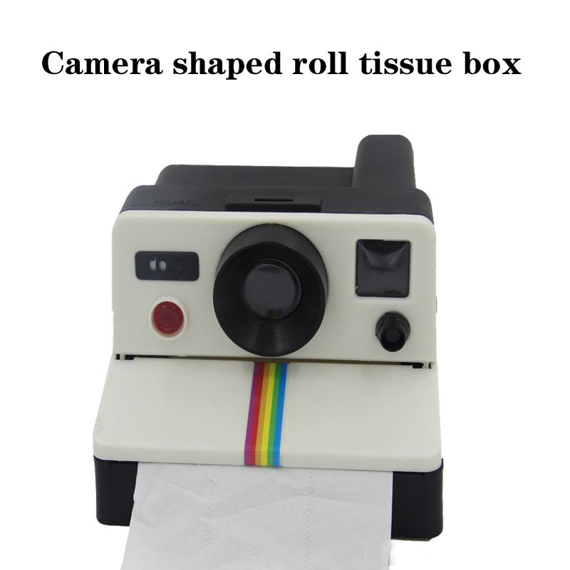 Retro Polaroid Camera Shape Inspired Toilet Roll Box / Toilet Paper Holder bathroom tissue box stand(China (Mainland))