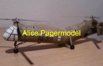 [Alice papermodel] Long 70CM 1:24 German H21 Work Horse helicopter Gunship aircraft warplane airplane models