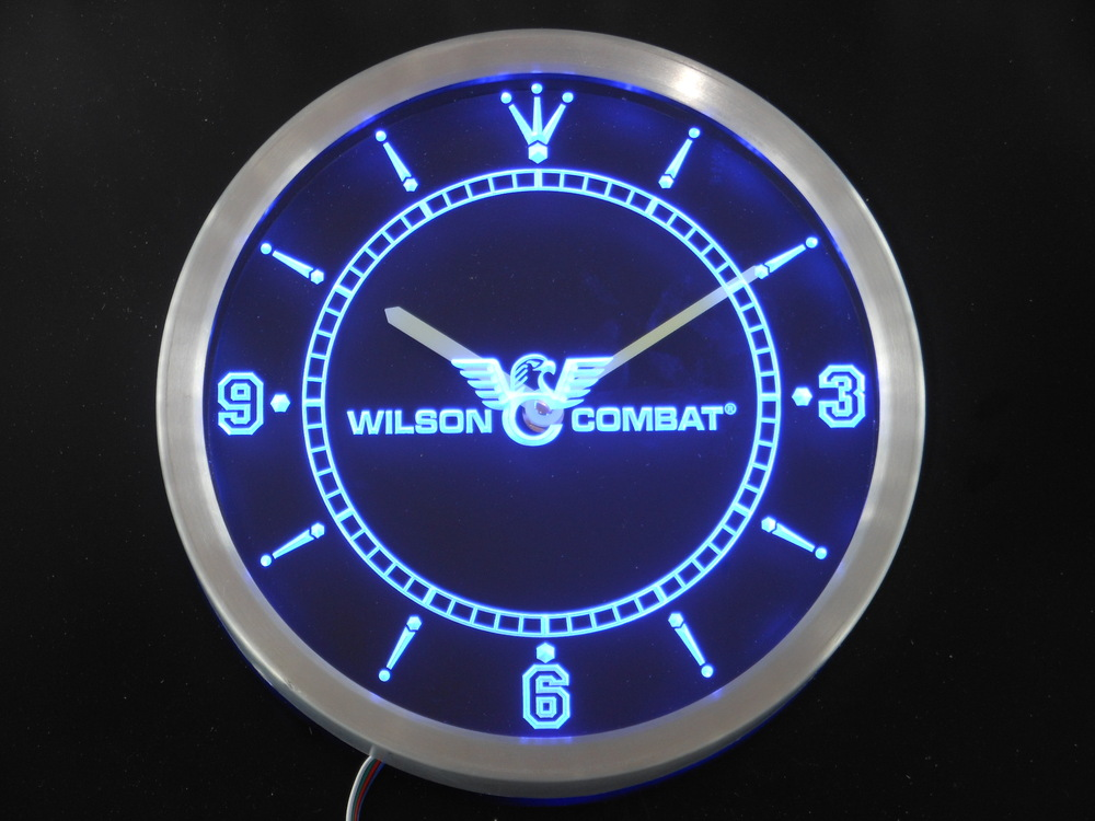 nc0188 Wilson Combat Neon Sign LED Wall Clock(China (Mainland))