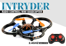 U207 6 Axis Gyro RC Helicopter 4CH Radio Controll mini Quadcopter UFO Toys w/ LED Lights Black/Orange Color(China (Mainland))