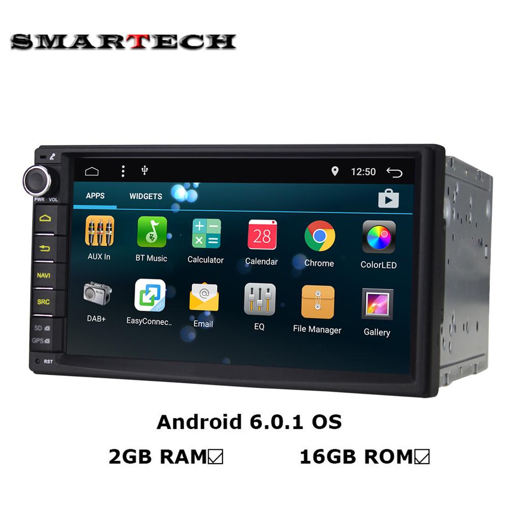 Android 6.0 Autoradio 2Din 7 Inch Screen Car Stereo GPS for Nissan Qashqai Kia Toyota Headunit Car Radio Bluetooth wifi 2G RAM(China (Mainland))