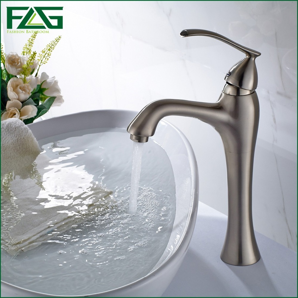 Sanitary Ware Prices Basin Faucet Nickle Brushed Bassine Single Lever Rubinetto Del Bacino Dall Mount Bathroom Mixer Tap100271(China (Mainland))
