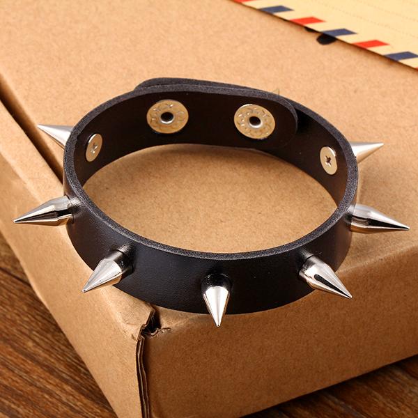 New Design hot Fashion Personality Hip hop hippie punk rock Rivets Men Leather Bracelet jewelry Wholesale