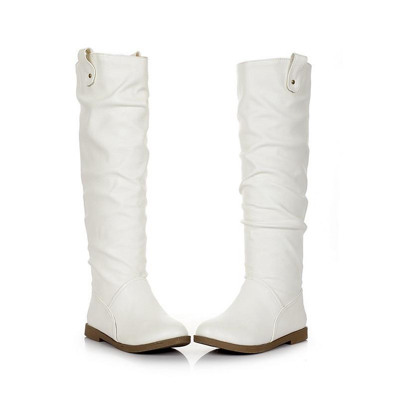 ซื้อ พลัสSize34-41 2016ใหม่เซ็กซี่เลดี้บู๊ทส์หิมะฤดูหนาวออกแบบยาวเข่าสูงบู๊ทส์หญิงขี่บู๊ทส์SBT1551
