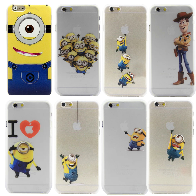 Premium New Fashion Minions Series Phone Cases for Apple iPhone 6 case back cover for iphone 6 4.7 with 22 Type choose by Akcoo(China (Mainland))