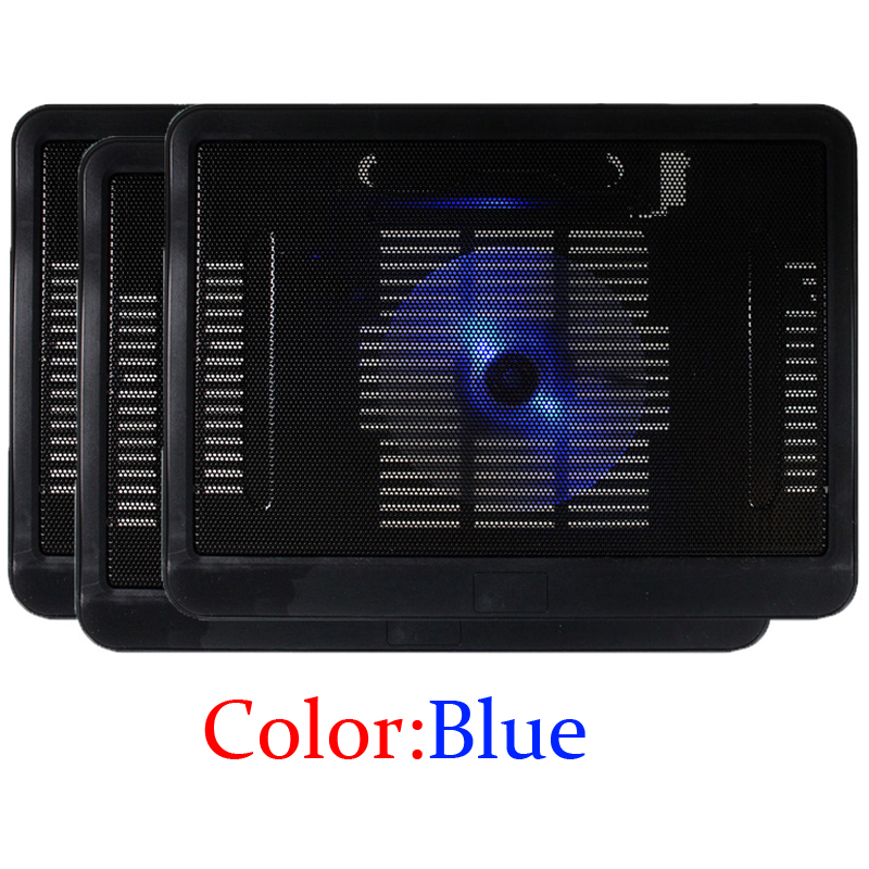 New Design Laptop Cooler USB Fan Notebook Cooling Pad With Dual USB Port Support 10-14 Inch Notebook Color Blue(China (Mainland))