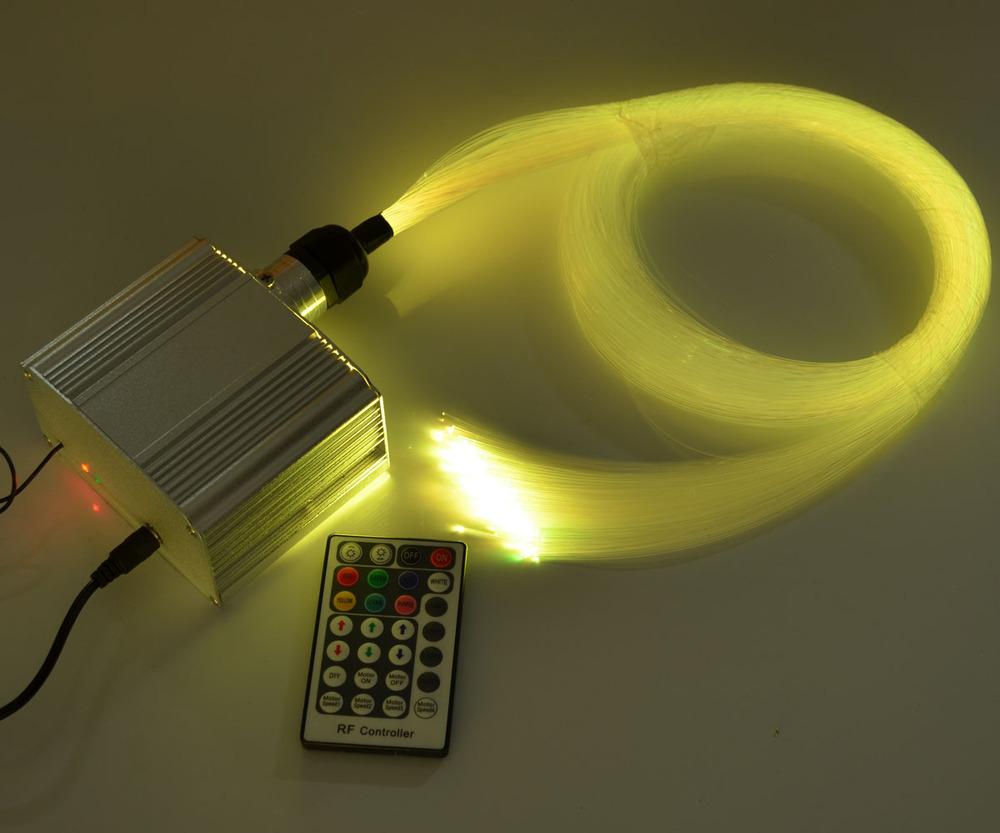 Фотография DIY RGB LED Twinkle fiber optic light 0.75mm*200pcs*4 optical fiber+ led light engine  Jump/Fade etc effect Decorative lighting