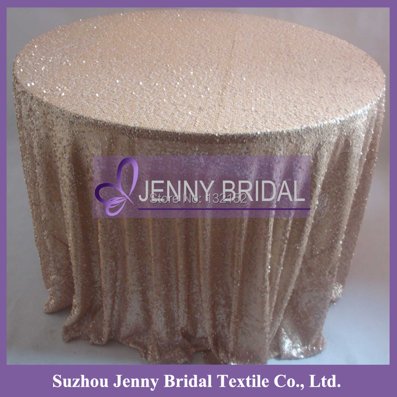 """SQN64#20 90""""*156"""" wholesale champagne sequin luxury table linens for weddings(China (Mainland))"""