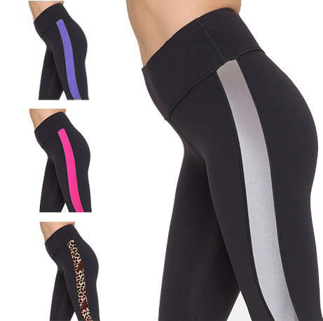 Crazy discount Yoga Trousers breathable Fitness Running Pants Workout Sports stretch Pants summer style leggings ST030 Free ship(China (Mainland))