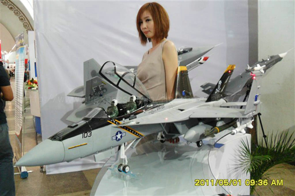 RTF Black Upgrade Version / RTF RC F-18 Hornet jet plane / Folding wing / With metal landing gear / And Upgraded to Metal EDF(China (Mainland))
