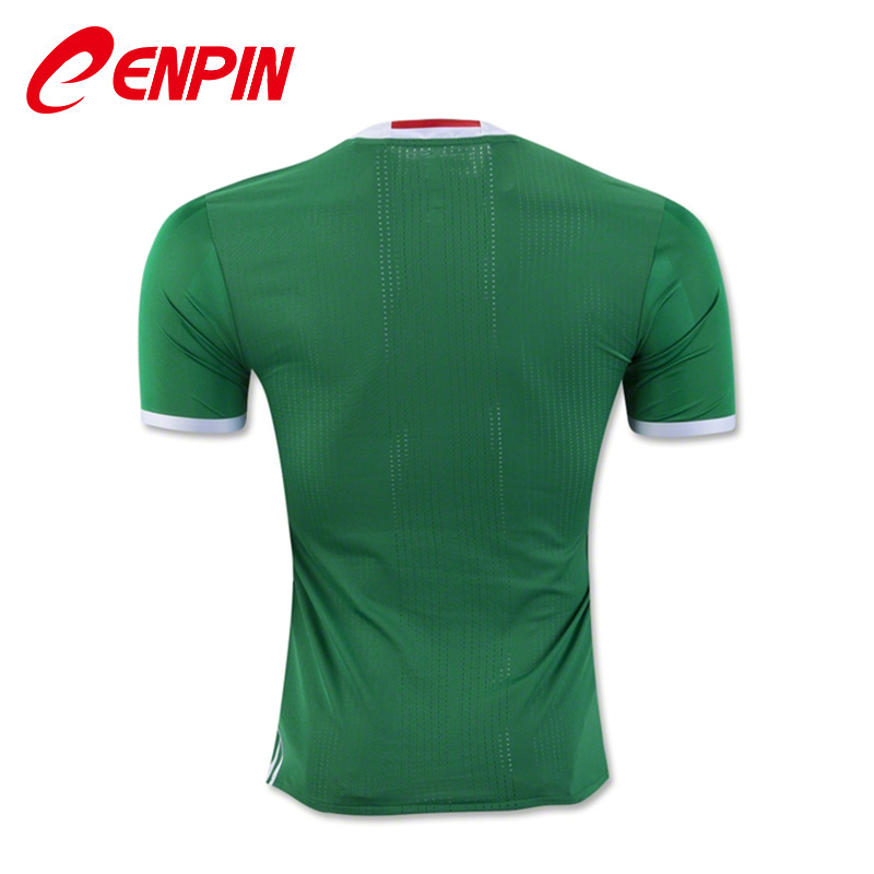 CENPIN Green Shirts 2016 MEXICO SOCCER JERSEY HOME Camiseta de futbol MEXICO 2016 jersey local verde FOOTBALL uniform(China (Mainland))