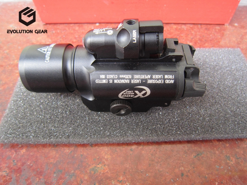 High Quality Surefire X400 Handgun Flashlight With Red Laser Sight For Hunting(China (Mainland))