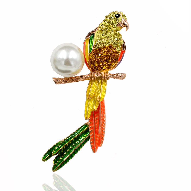 Colorful Cute Female Crystal Rhinestone Brooch Broches Animal Fashion Jewelry Brand Brooch Pins For Women Summer