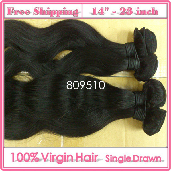 14-28inch 100% Brazilian Virgin Remy Human Hair Weft Extensions,  Wave, Natural Color 1b#, 95-100g/ Bundle + 1 Gift<br><br>Aliexpress
