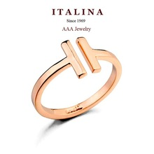 Italina Rigant Fashion Ring Real Gold Plated Opening Gold Ring Jewelry