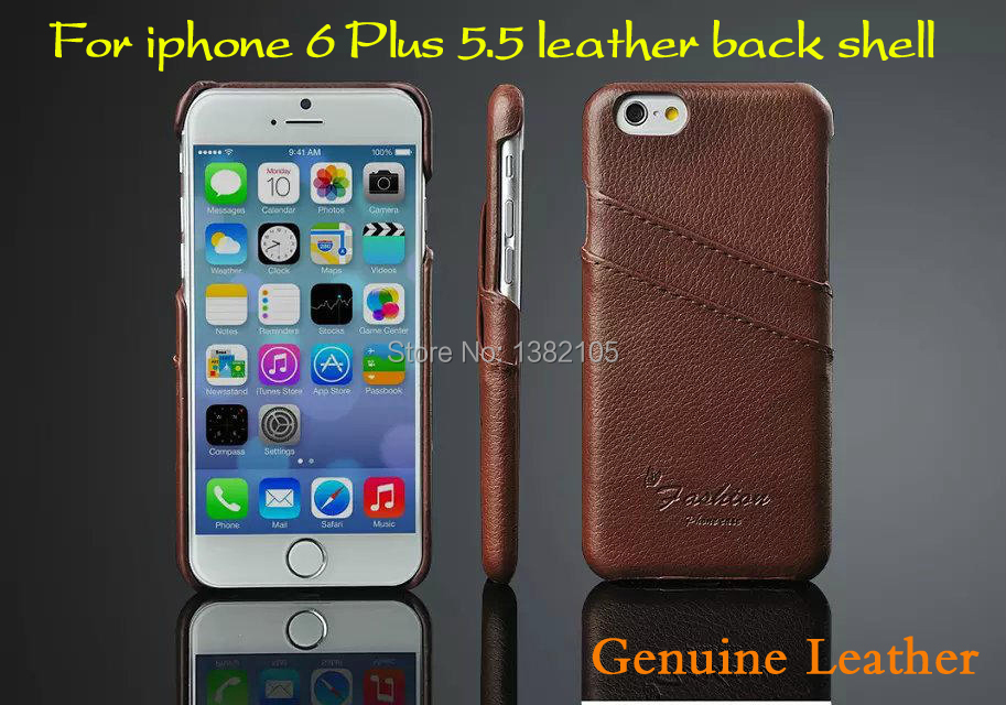 Genuine Leather back shell for apple iphone 6 Plus 5.5 case New hot Hard phone Case for iphone 6s leather cover Free shipping(China (Mainland))