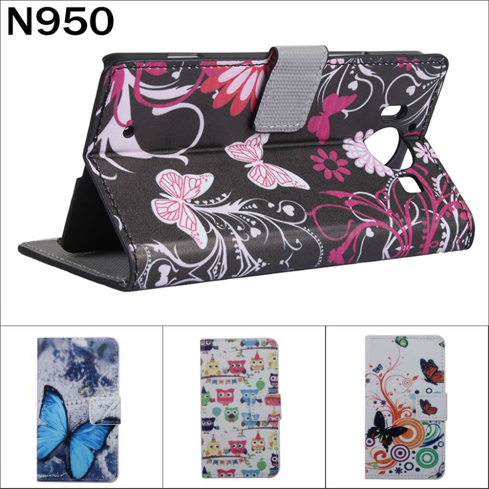Fashion Chinese flower Owl USA UK Flag wallet card leather stand case cover Microsoft nokia Lumia 950 N950 pen gift  -  E-Credible Technology Co.,Ltd. store