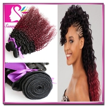 Grade 7A Brazilian Ombre Hair Extensions 3 Bundles Virgin Brazilian Kinky Curly Ombre Hair Two 2 Tone Colored Queen like hair