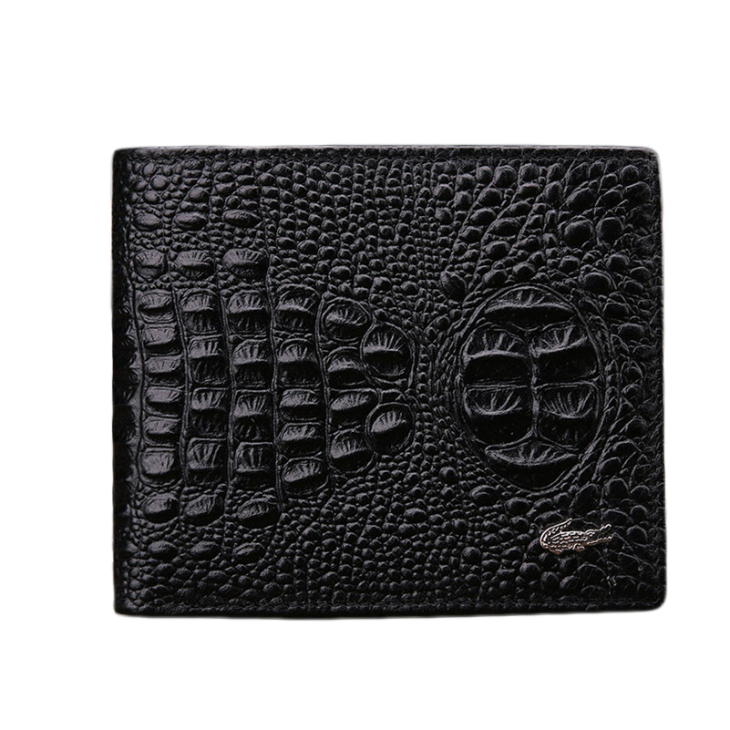 2015 Men's Wallet Genuine Leather Men Wallet Short Cowhide Crocodile Wallet Short Male Fashion Brand Bifold Wallet Men's Purse(China (Mainland))