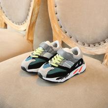 ボーイズガールズファッションブランドスニーカー子供スクールスポーツトレーナーベビー幼児リトルビッグ子供カジュアルスケートスタイリッシュなデザイナーの靴(China)