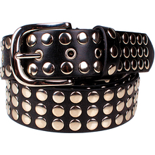 Buy Fashion women's Rivet belt Punk rock style belt lady Sequins Metal buckle Wide full Metal rivet bead belt for $12.20 in AliExpress store