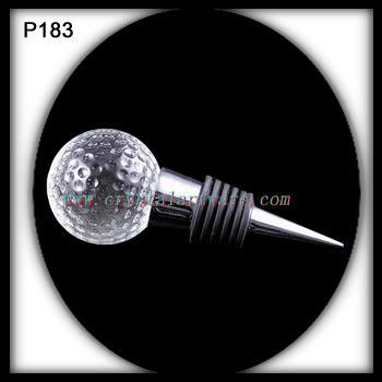 Golf Ball Crystal Wine Bottle Stopper Nice Crystal Ball Bottle Stopper(China (Mainland))