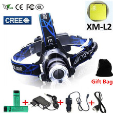 5000 lumens led headlamp cree xml t6 xm-l2 Headlights Lantern 4 mode waterproof torch head 18650 Rechargeable Battery Newest(China (Mainland))