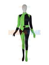 2015 Newest Black & Green Harley Quinn Costume Female Super Villain Halloween Cosplay Costumes zentai suit