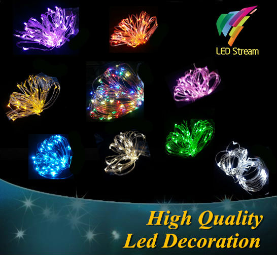 9 color 5M 50leds  Fairy String Lights lamp Battery Operated Mini LED Decorative Sliver color Copper Wire holiday lighting<br><br>Aliexpress