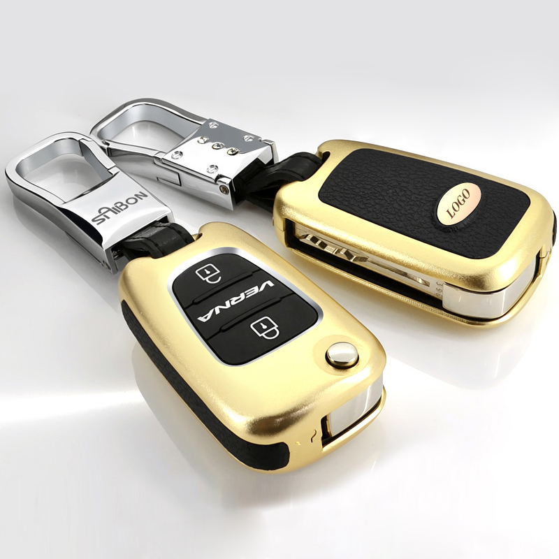 Aluminum Car Remote Key Cover Protection Case For Hyundai Solaris Elantra iX35 i20 i30 i35 iX20 i40 Verna HB20 Accent Veloster(China (Mainland))