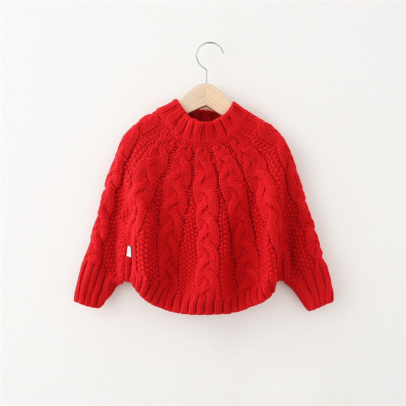 2015 Kids Girls Knit Poncho Baby Girl Fall Crochet Capes Jumper Top Fashion Wool Blends Knitting Sweater children clothing - Miss2010 store