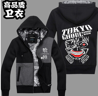 3 style Thicken Tokyo Ghoul Kaneki Ken mask hoodie blood cosplay costume Anime Hero jacket coat sweater hoodie(China (Mainland))