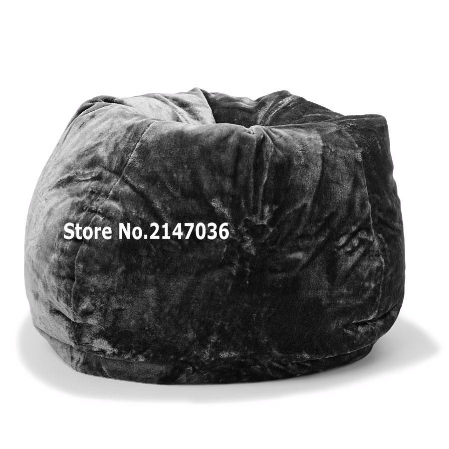 Short fur bean bag lounger, living room soft elegant living room beanbag chair(China (Mainland))