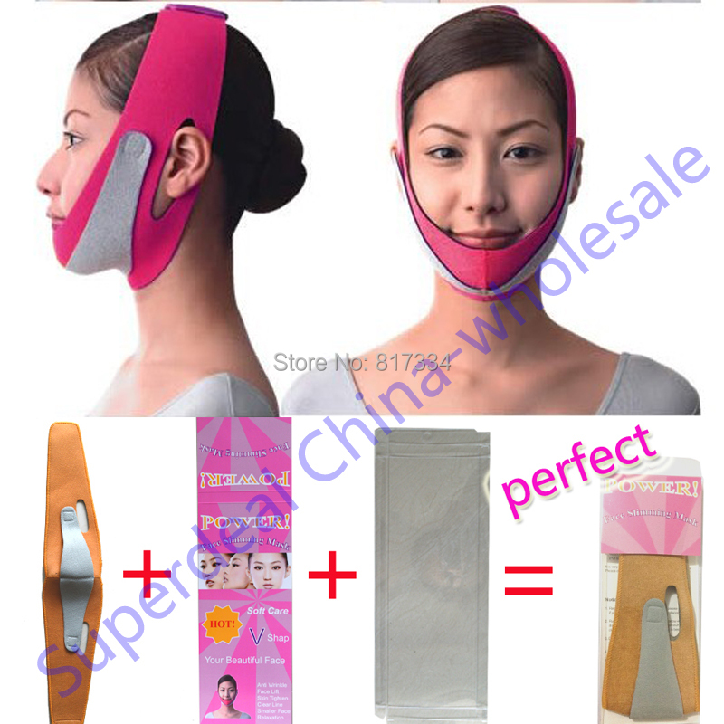 High Quality Slimming face mask Shaping Cheek Uplift slim chin face belt bandage health care weight loss products massage cream(China (Mainland))