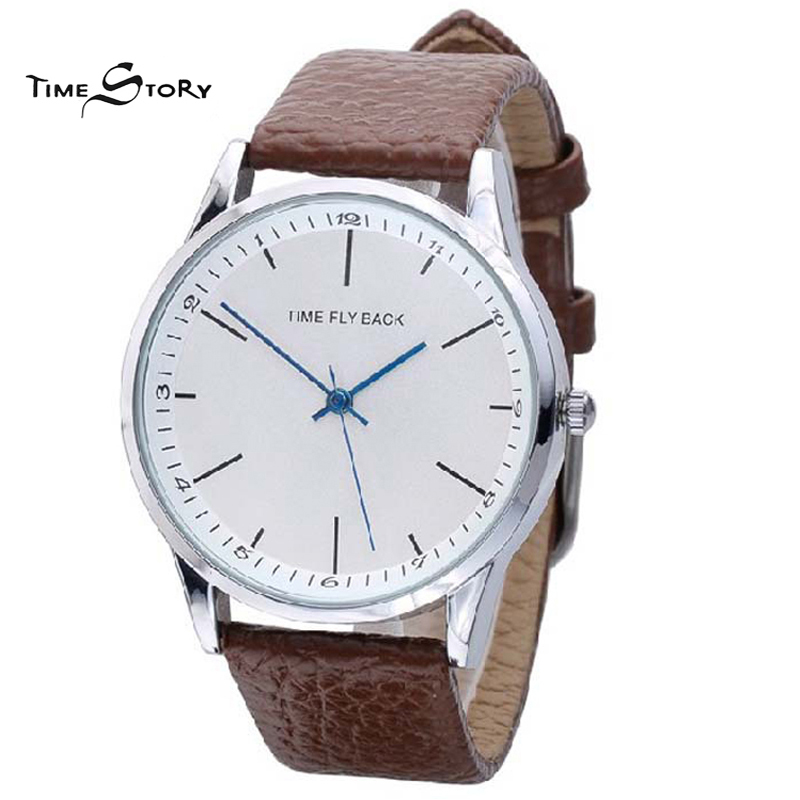 Brand Classic Fashion Casual Business Watch Men s Anticlockwise Quartz Leather Strap Wrist Watches Life Waterproof