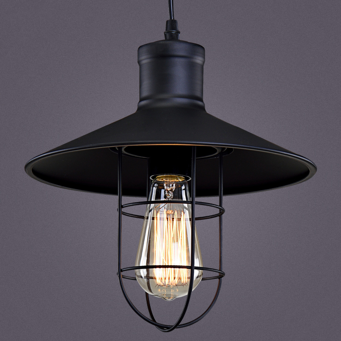 cage pendant light e27base hat vintage industrial style black color iron cafe club bar restaurant lighting black hat unique lighting