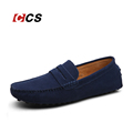 Suede Leather Men s Loafers Casual Light Weight Driving Flats Red Gray Color Suede Low Cut