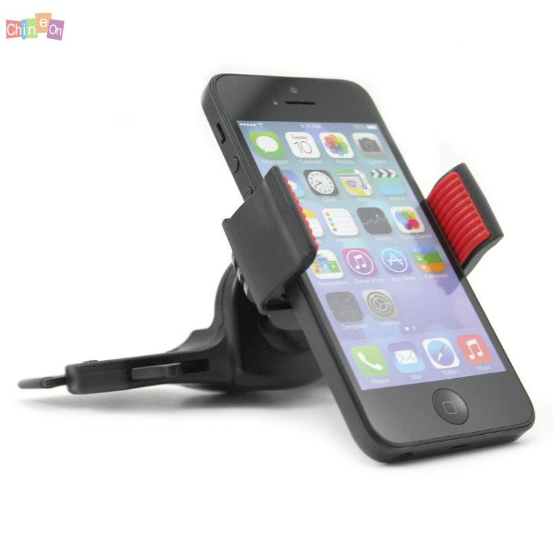 1PC 360 Degree Rotationg Car CD Dash Slot Cell Phone Stand Holder Mount for iPhone 6 5S for Samsung S6(China (Mainland))