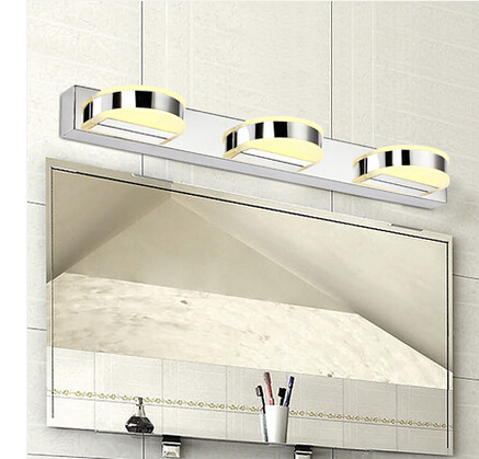 Фотография Bathroom LED mirror Light 12W 5630 lamps 500mm stainless steel bathroom mirror lamp AC 85V~265V Y-50