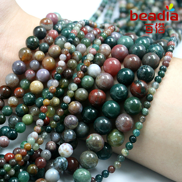Best Selling 4mm 6mm 8mm10mm natural mixed color gravel India stone Beads fit for fashion bracelet & DIY Jewelry making(China (Mainland))