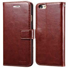 Luxury Retro Leather Mobile Phone Case For iPhone 6 4.7 / Plus 5.5 inch Vintage Wallet Case for Apple iPhone6  With Card Slot(China (Mainland))