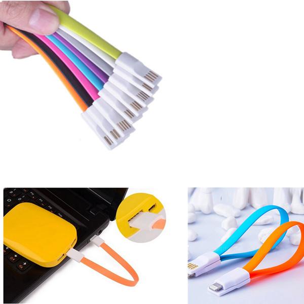 22CM Magnet Flat Short 5Pin Micro USB Data Charger Cable Cord(China (Mainland))