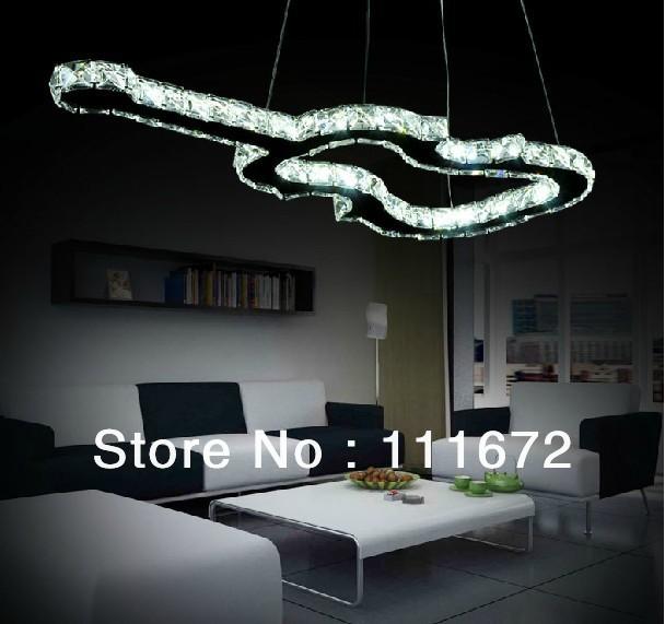 neue kreative gitarre f hrte kristallleuchter modernes schlafzimmer kristall leuchten in italien. Black Bedroom Furniture Sets. Home Design Ideas