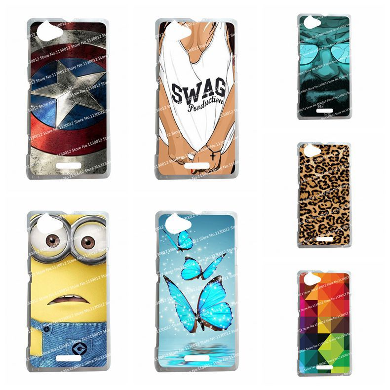 16 Patterns Hot Selling Hard Plastic Case For Sony Xperia L S36H C2104 C2105 Case Cover For Sony Xperia L S36H +Stylus Gift(China (Mainland))